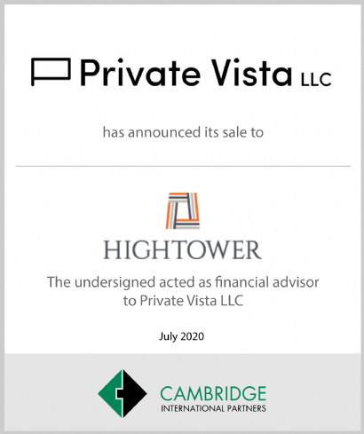Hightower Makes Strategic Investment in Private Vista